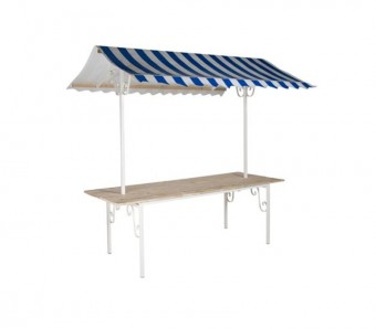 xxlselect franse marktkraam compleet dak blauw wit